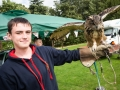 Jack Dawson  with Jess the Male European Eagle Owl, 23 year old (owl).Lincoln Owl Rescue - Copy