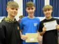 Pictured from left is Olly Wright, Elliot Bryan and Luca Wood. Olly was going to open his results later with his mum and who is looking to go on and do something with engineering. After getting passes in everything Elliot is going to Bourne Academy to do A Levels looking to do something in business in the future. Luca Ward also got what he was after and is heading to Peterborough College. Spalding Academy GCSE Results Day 2018