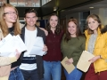 Pictured from left Noah Leatherland will study history at the University of East Anglia, Cade Moyses is to study law at Warwick, Suzannah Garner is to study biomedical sciences at Cardiff, Victoria Beliavska is taking an apprenticeship at Bakkavor and Katrina Naliviako is looking to be a weapons technician with the RAF. Spalding Grammar School A Level results