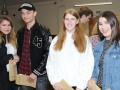 Athena Cox, Jack Baker, Hannah Ambrose and Ella Beecham pictured before opening their results. Spalding Grammar School A Level results