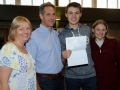 Joe Roberts is heading to Southampton to realise his dream of studying marine biology. He's pictured here with mum Sue, dad Mike and sister Sophie. Spalding Grammar School A Level results