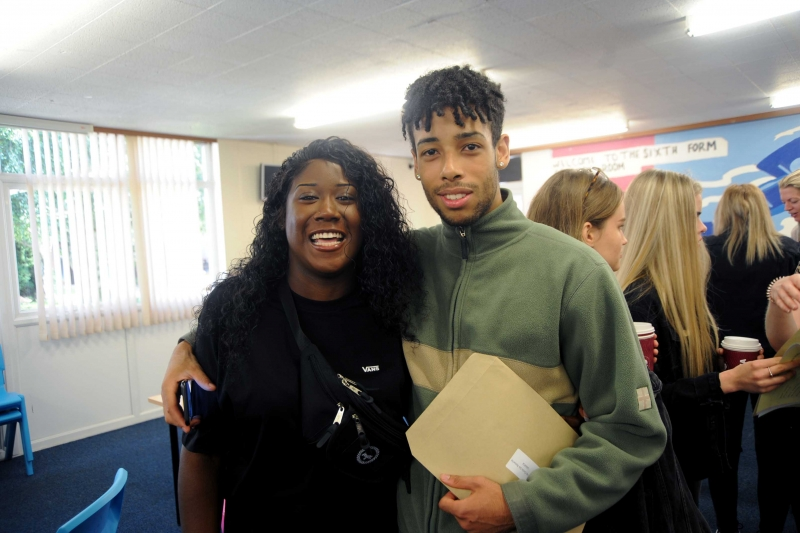 After picking up excellent results, Leidia Bramble and Ben Rosario are hoping to study at Wolverhampton and Aston University respectively