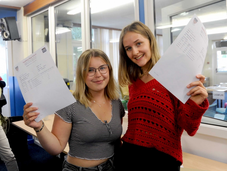 Isobel Preece (left) and Laura Gent are  both taking on food related courses