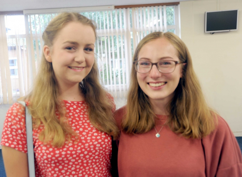 Rebecca Duckworth (left) is going to study English Literature in Durham while Beth Brown is studying drama at the Royal Holloway College in London.
