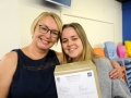 Megan Ball is heading to Leeds to study Business after earning As in Business and Maths as well as a B in history. She's pictured here with mum
