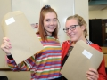 Hannah Carthy (left) is heading for a gap year while Annie Buchanan is going to study in Winchester to become a primary school teacher. Spalding High School A Level results