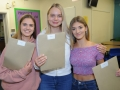 Pictured from left, Lauren Stong is looking to get into child nursing, Sophie Wright will study textiles at Bath Spa and Georgina Maplethorpe  is heading to Loughborough University to do a course in medicinal pharmaceuticals. Spalding High School A Level results