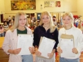 Alice Wickham (left) earned eight nines, an eight, seven and A*. She's pictured next to twins Grace and Jessica Wood. Grace (left) recorded five nines and Jessica (right) four. They're all staying on to do A Levels at the High School. Spalding High School. GCSE Results Day 2018.