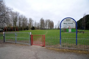 The play area in Chiltern Drive touted for being used as an extension to Spalding Cemetery.