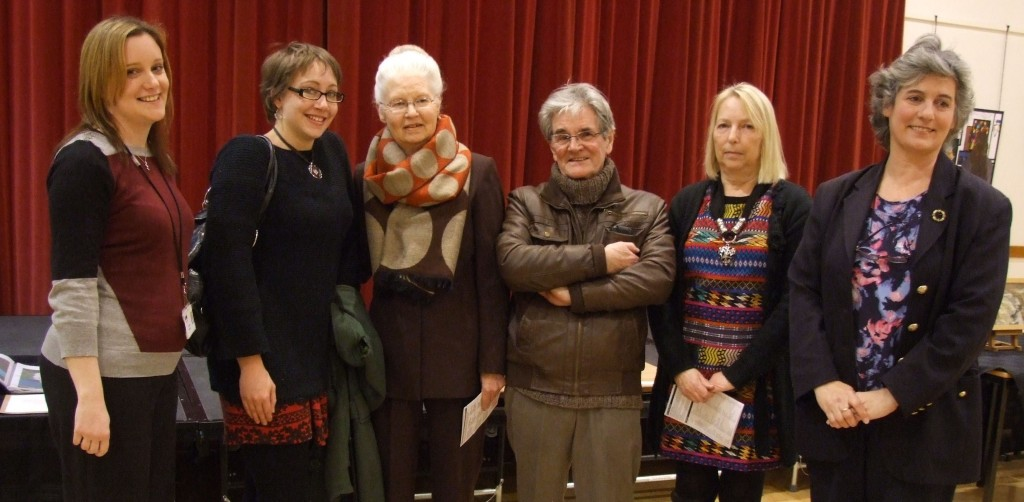 Fron left - Rachel Rowett  (South Holland District Council arts and culture development officer), Becca Sturdgess, Spalding district councillor Christine Lawton, John Gray and Helen Webber, of Spalding's Riverbank Studios, who sponsored the award, and district councillor Sally Slade.