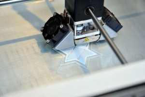 One of the museum's new 3D printers at work.