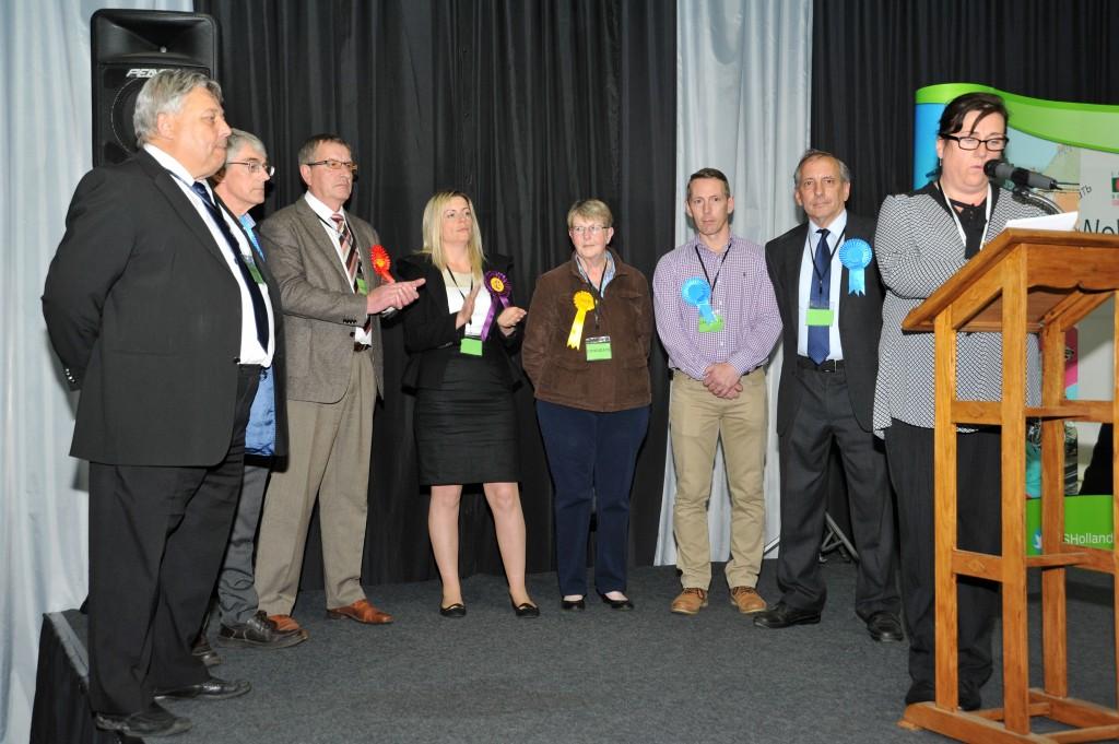 Moulton, Weston and Cowbit ward candidates (from left) Rodney Grocock, Jim Scarsbrook, Voyteck Kowalewski, Emma Bates, Mary Lane, Andrew Woolf and Anthony Casson. Photo: VNC080515-26