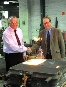 South Lincs Foundry owner David Harriman (left) with South Holland District Council deputy leader Nick Worth, who is portfolio holder for commercialisation.
