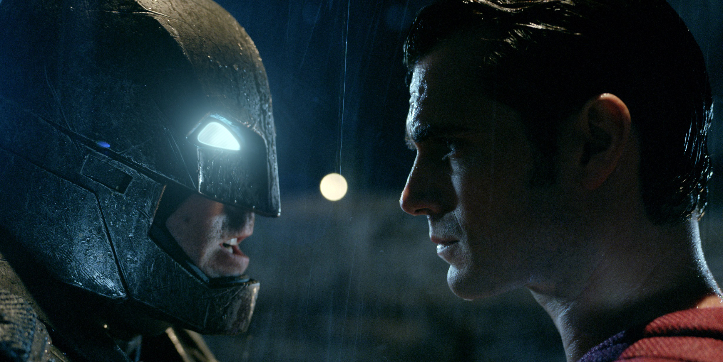 SHOWDOWN: Batman and Superman have an epic battle.