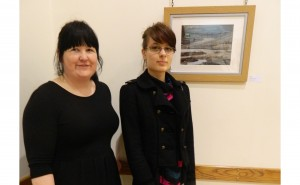 Alison Loakes (right) with her winning photography work, and Karen Harvey, from Shutter Hub, who sponsored the prize.