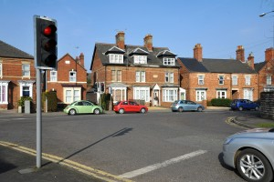 Mini roundabout for junction of Winfrey Avenue and Kings Road
